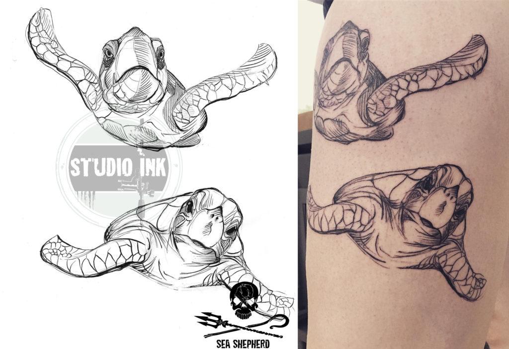 tattoo donatie voor sea shepherd