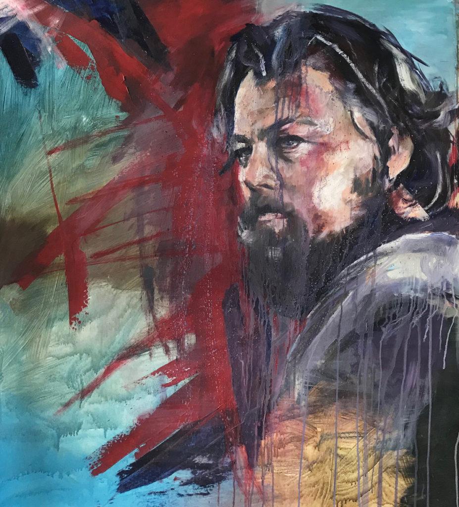 Leonardo die Caprio the Revenant oil painting